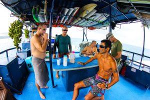 seriti back deck passengers relaxing from surf banyak